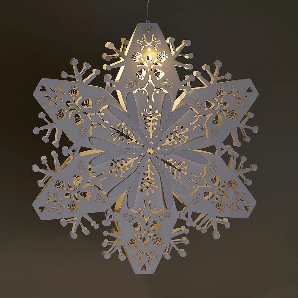 Laser Cut White Small Christmas Snowflakes