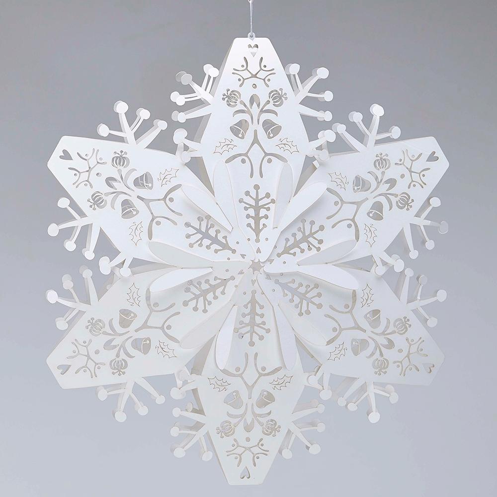 Large white hanging Snowflakes