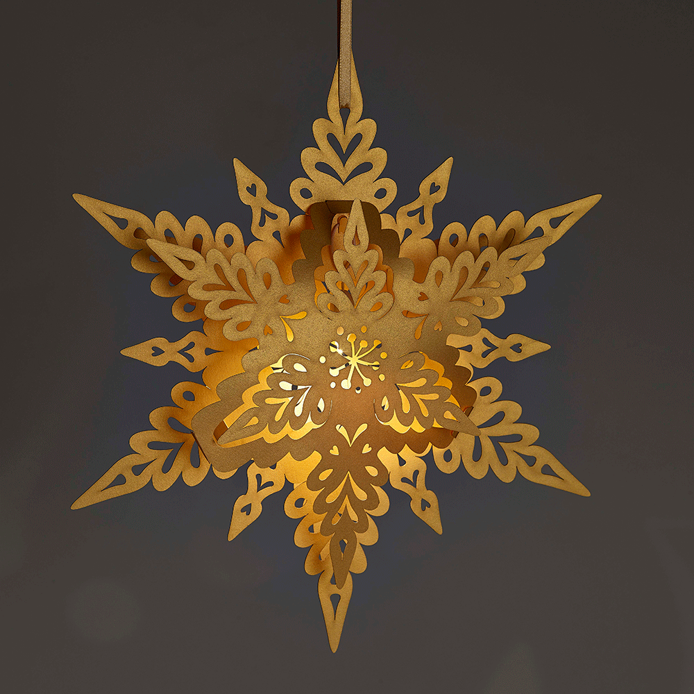 Art Deco Christmas Decorations Uk: Gold Christmas Snowflake Deco Style For Winter Weddings