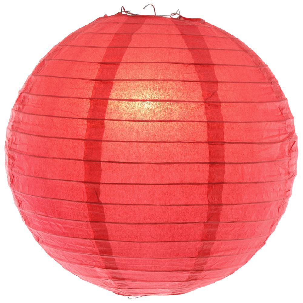 12 Inch Coral Paper Lanterns