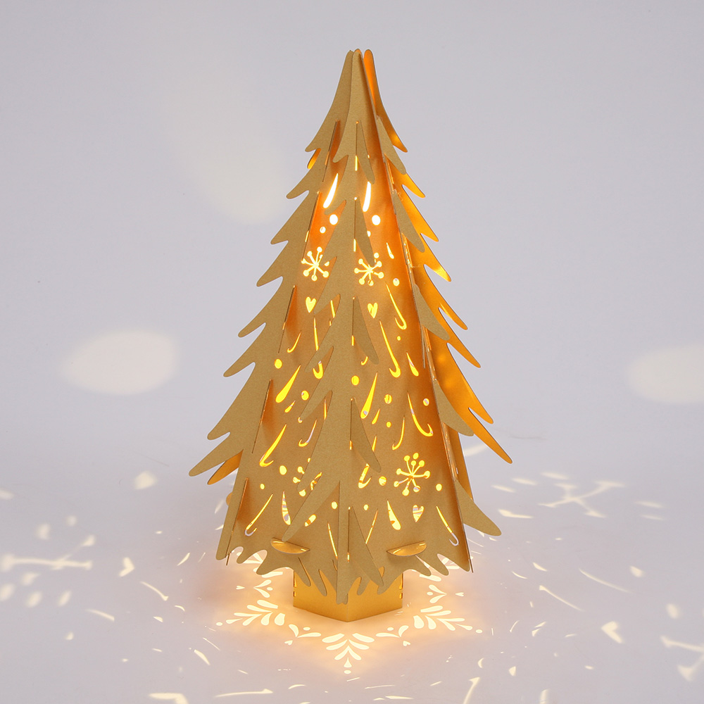 small gold christmas tree h36cm hanging lantern company