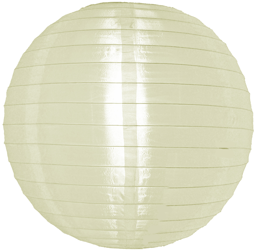 12 inch ivory nylon round lanterns - White hanging paper lanterns ...