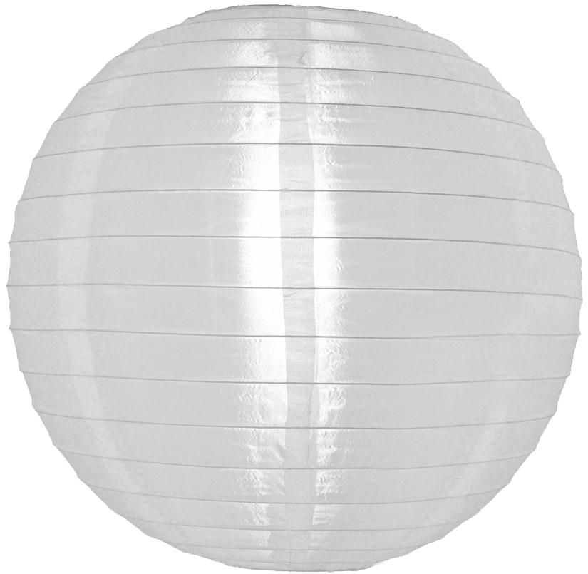 12 inch white nylon round lanterns - White hanging paper lanterns ...
