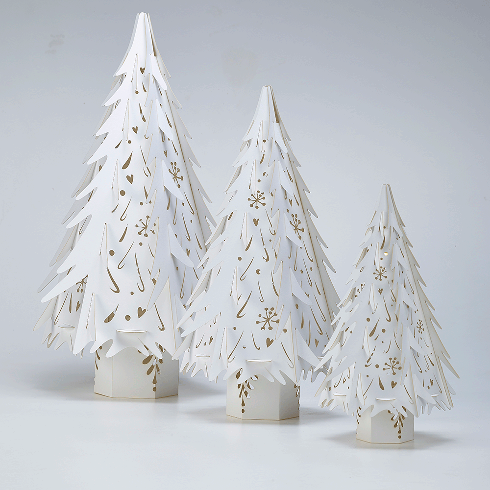 Where To Cut Christmas Trees: Large White Laser Cut Christmas Tree For Weddings And Events