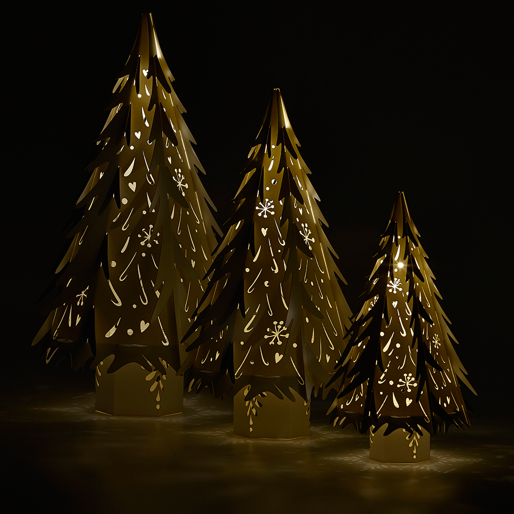 Laser Light Christmas Tree: Large Laser Cut Christmas Trees From The Hanging Lantern