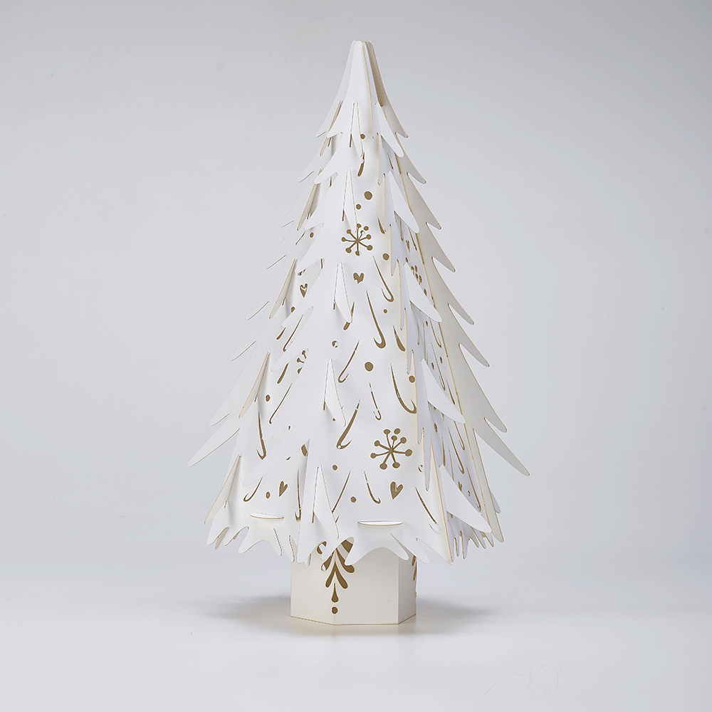 small white christmas tree h36cm
