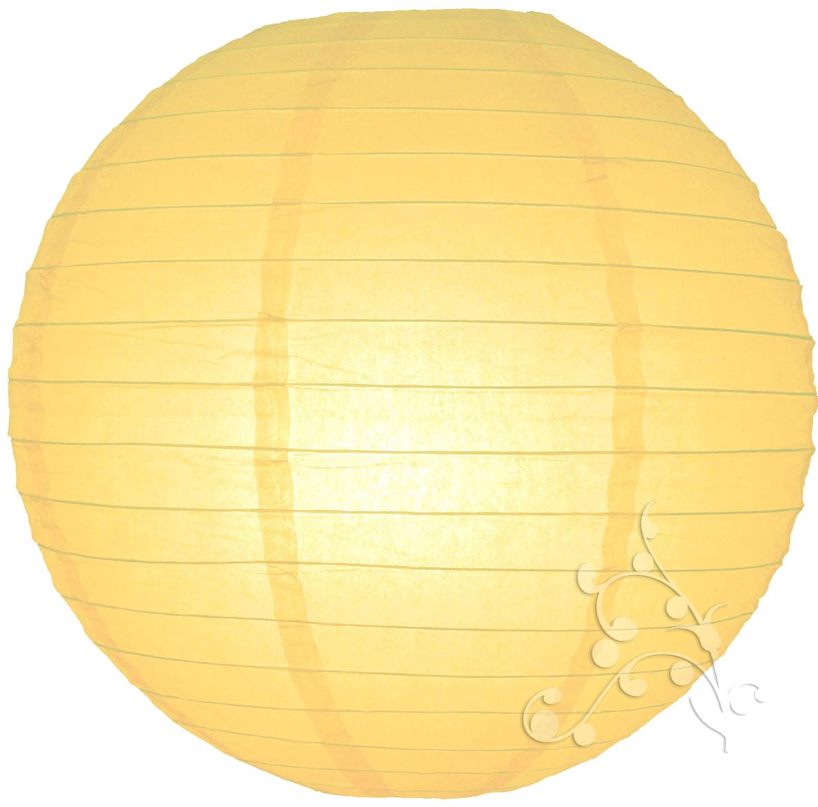 16 Inch Light Yellow Paper Lantern