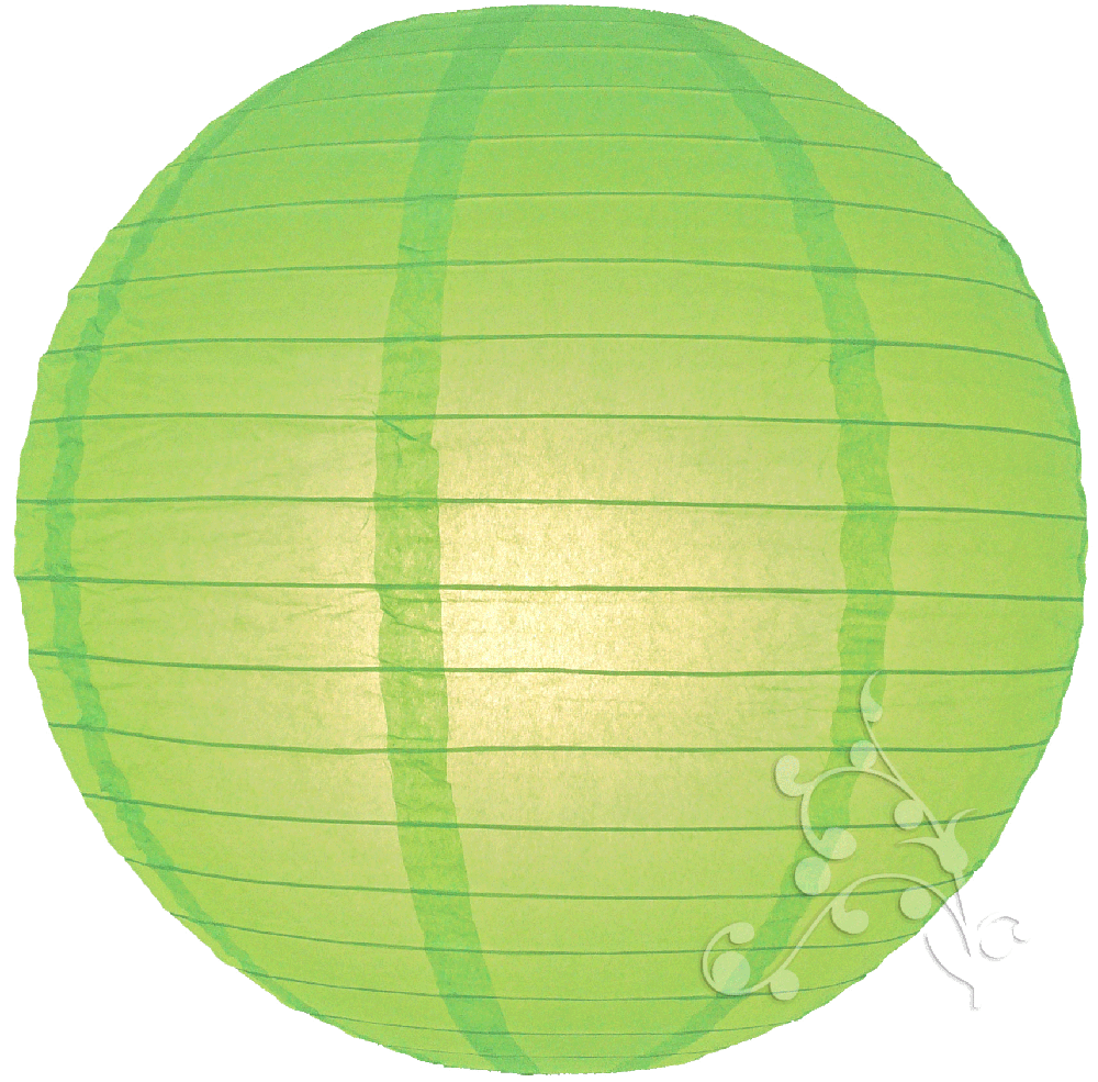 Lime Green Chinese Paper Lanterns