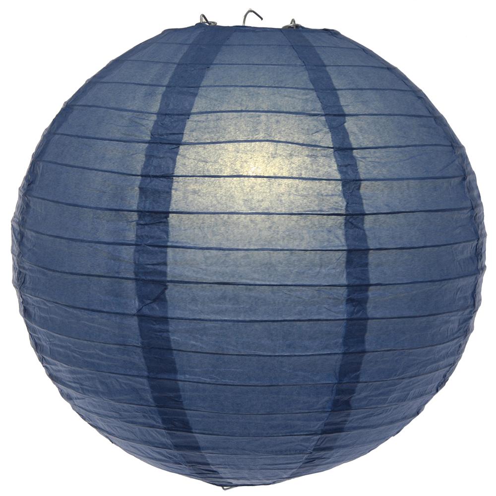 12 Inch Navy Blue Round Paper Lantern