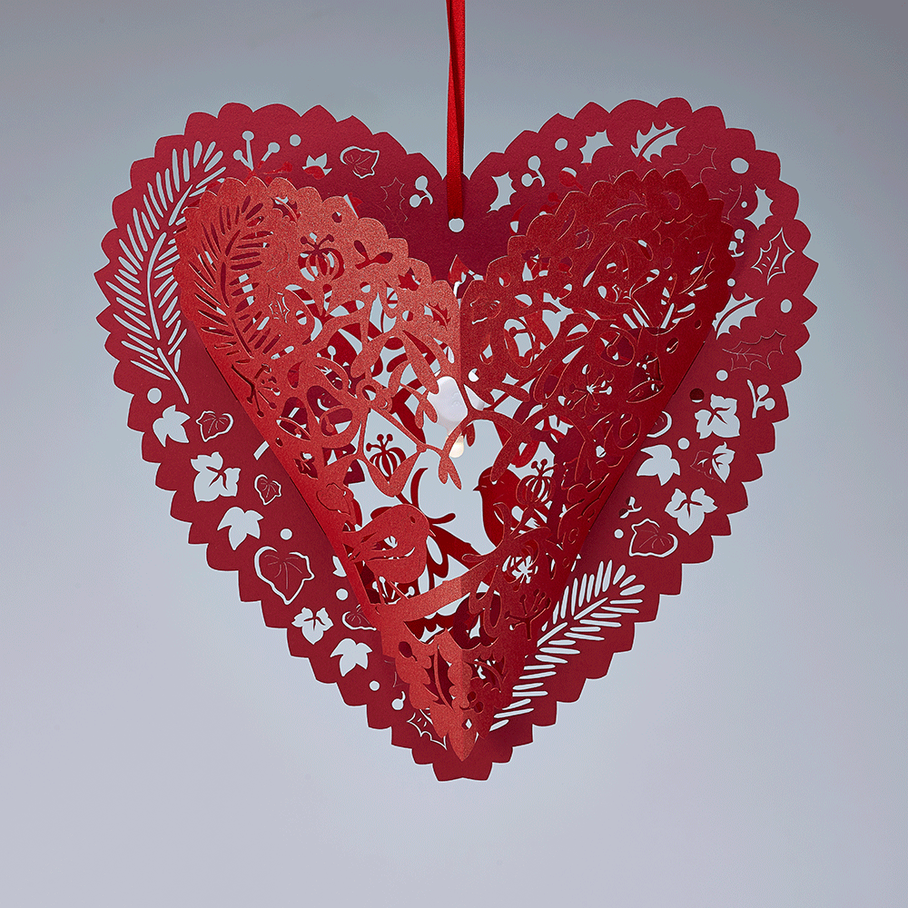 Christmas Heart Png.Christmas And Valentines Red Lasercut Heart Lanterns