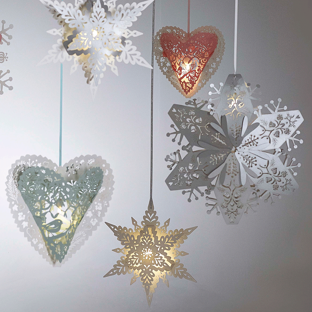 Large white hanging snowflakes for Big snowflakes decorations