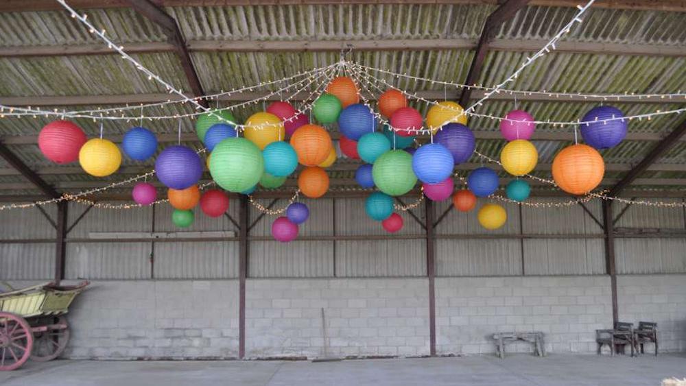 Illuminated Hanging Lanterns in BRIDES magazine