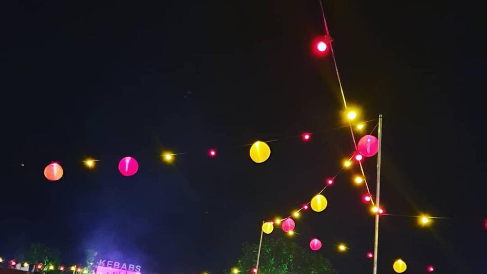 Outdoor Lanterns at Latitude Festival