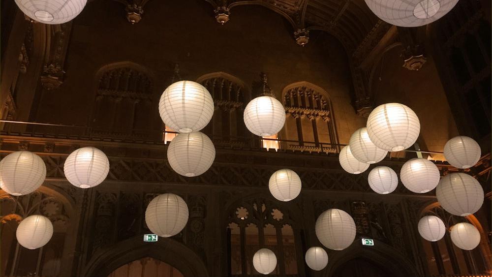 Paper Lanterns at Cambridge University