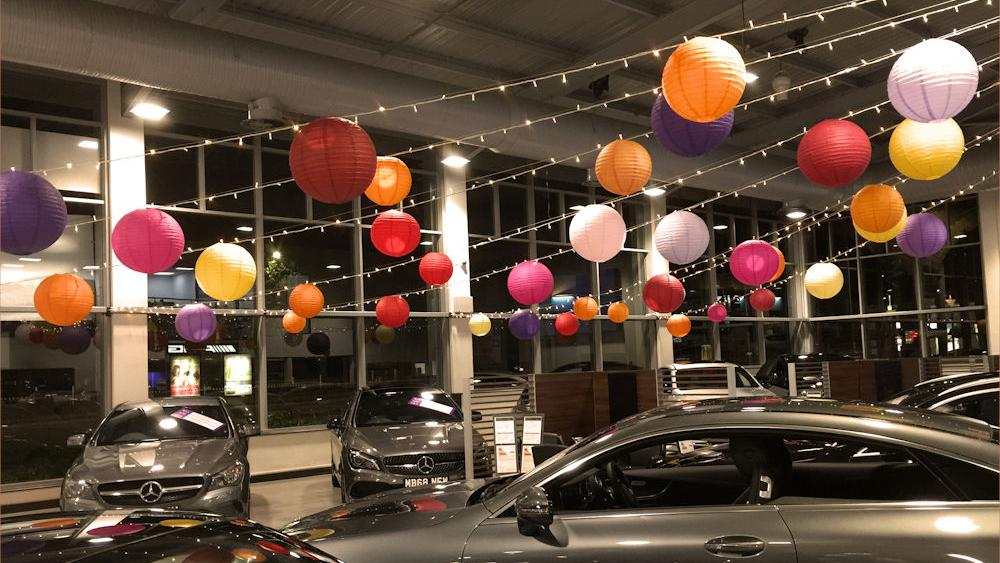 Paper Lanterns at Mercedes