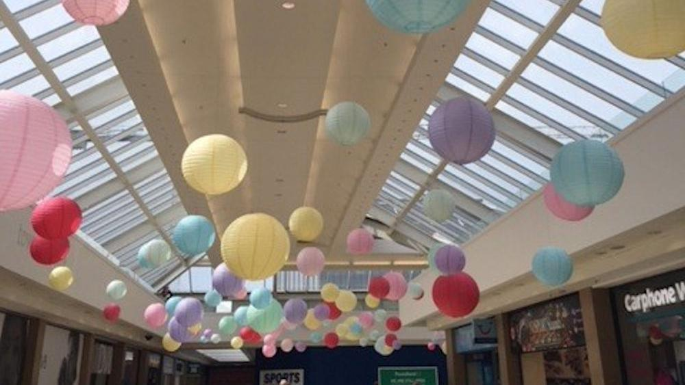 Pastel Paper Lanterns in the Tower Centre