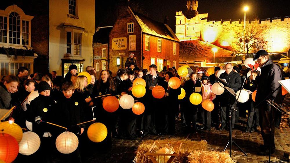 Paper Lantern Procession Organised By The Lincoln Business