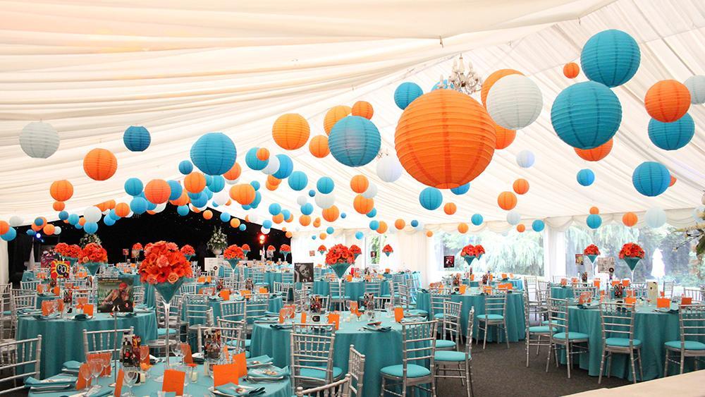 Brightly Coloured Paper Lanterns | Hanging Lantern Company