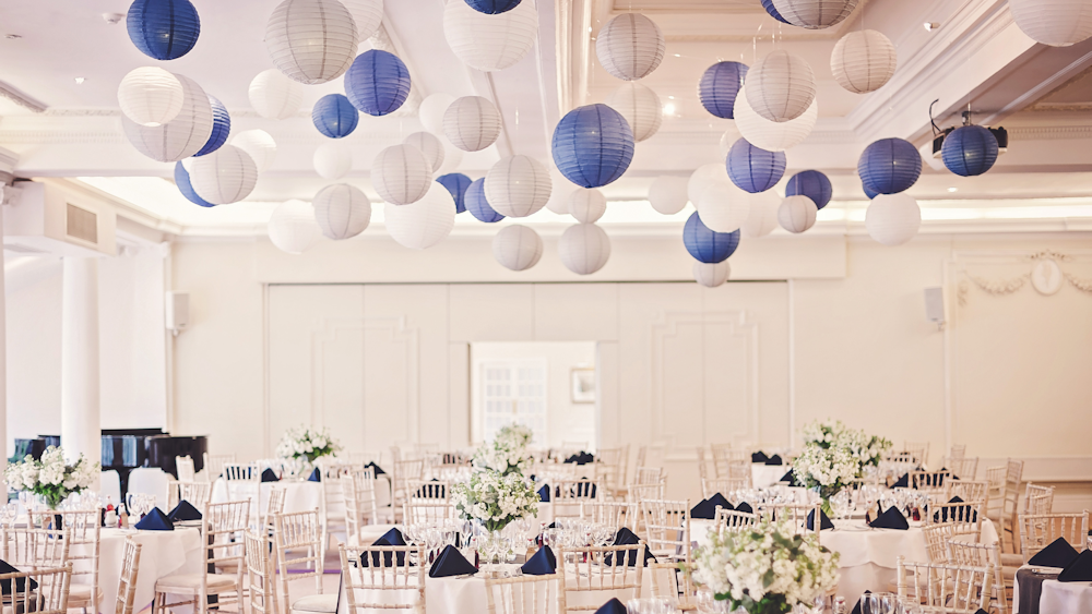 Blue and Dove Grey Lanterns WOW
