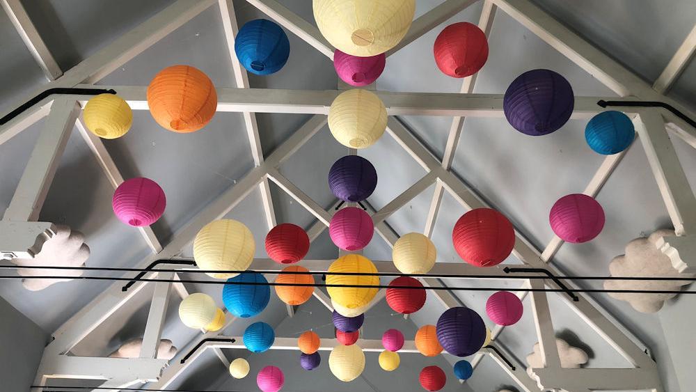 Colourful Lanterns at Eridge Village Hall