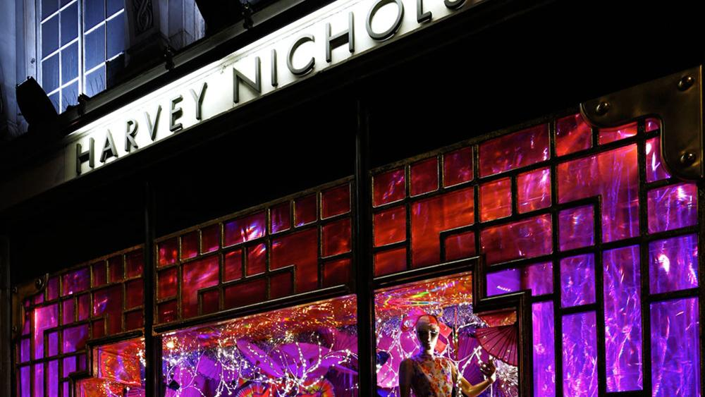 Harvey Nichols Christmas Window Displays