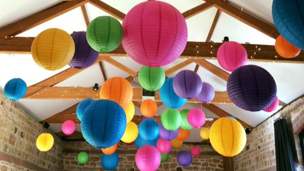 Various coloured lanterns