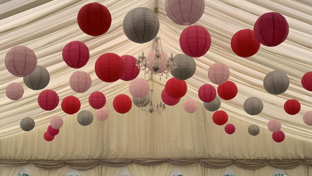 Paper Lanterns at Brambletye School