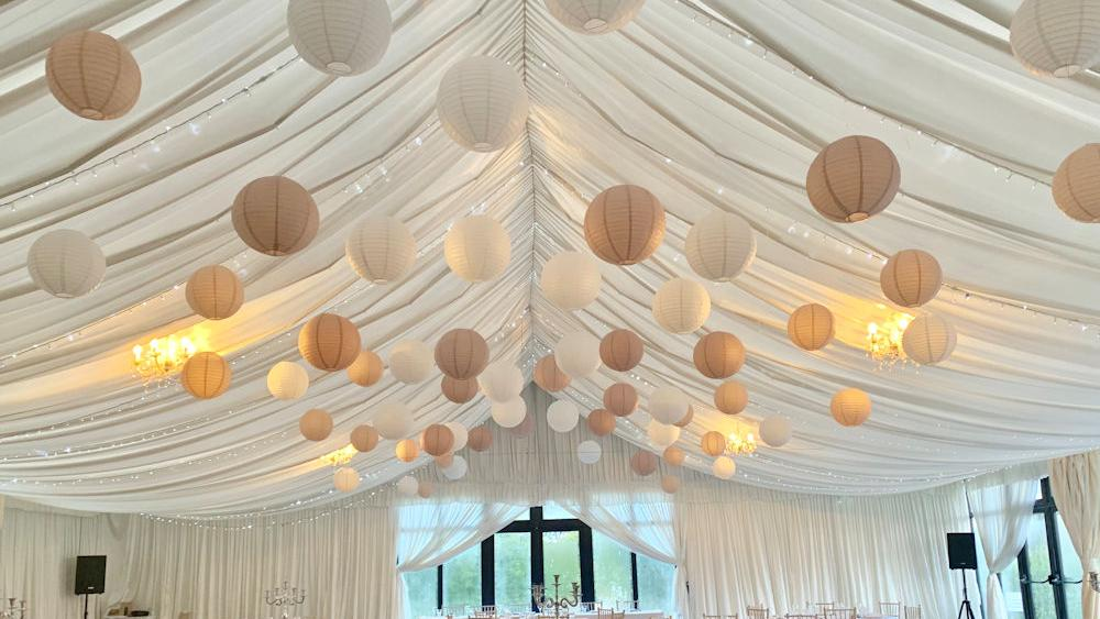 Paper Lanterns at the Cotswolds Hotel and Spa