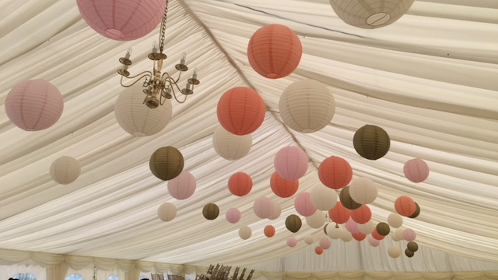 Pastel and Gold Hanging Lanterns