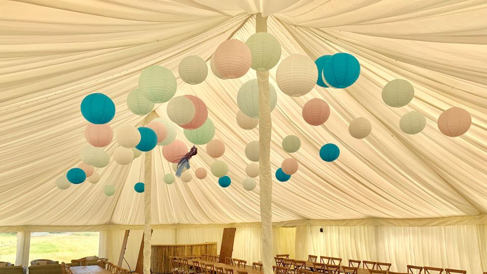 Coloured Paper Lantern Installation