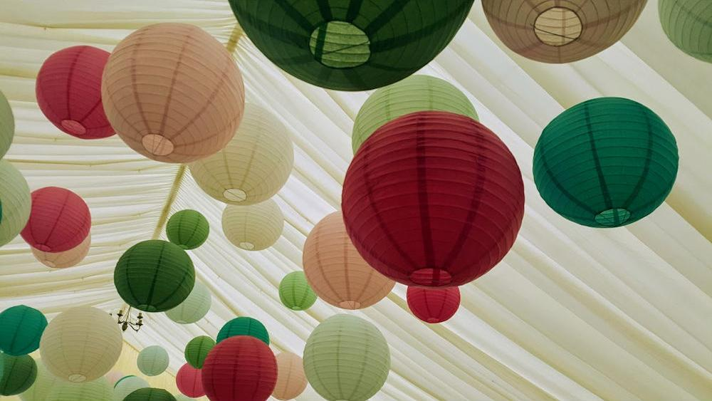 Big Band Bash Coloured Lanterns