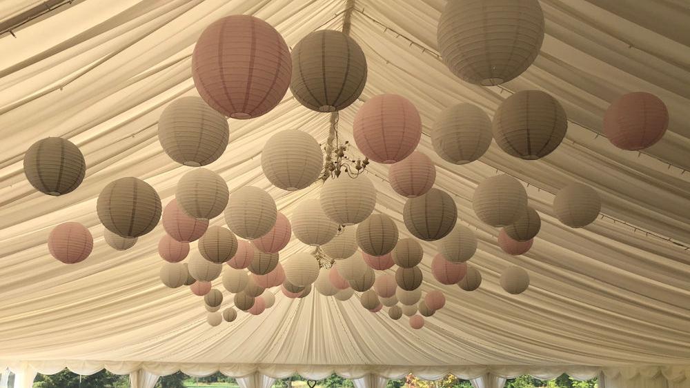 Wedding Lanterns at Kingston Bagpuize House