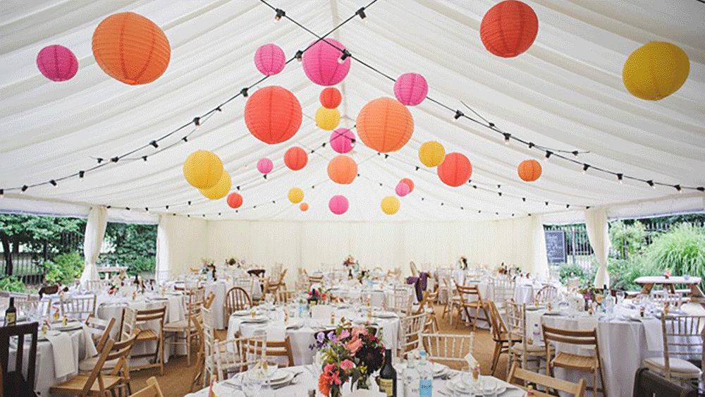 Vintage Marquee Lanterns in a London