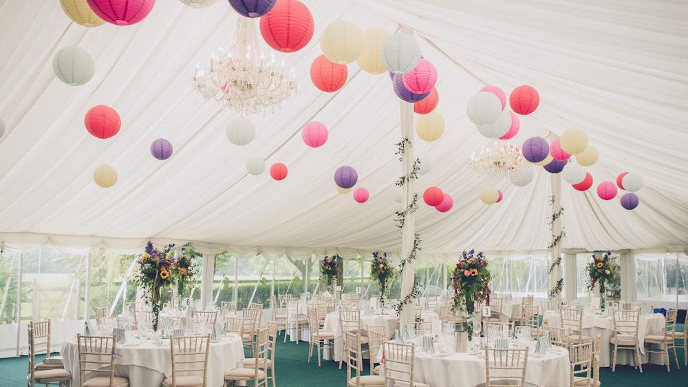Coloured Lantern Canopy at Rectory Farm