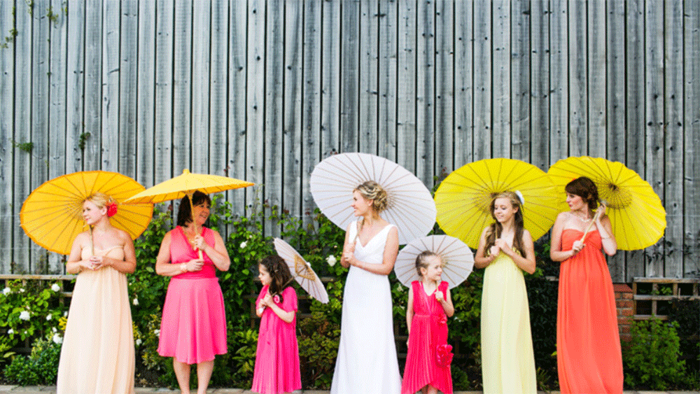 A Bright Bespoke Wedding with Yellow and Orange Paper Lanterns