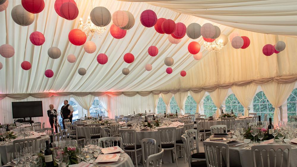 Paper Lanterns Decorate Brambletye's Centenary Ball