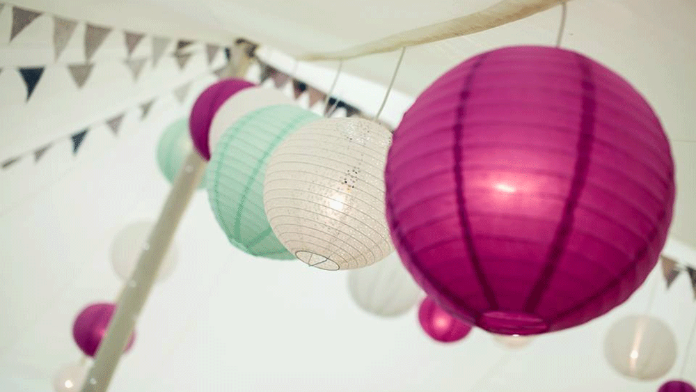 Abbas Marquees uses Regal Paper Lanterns