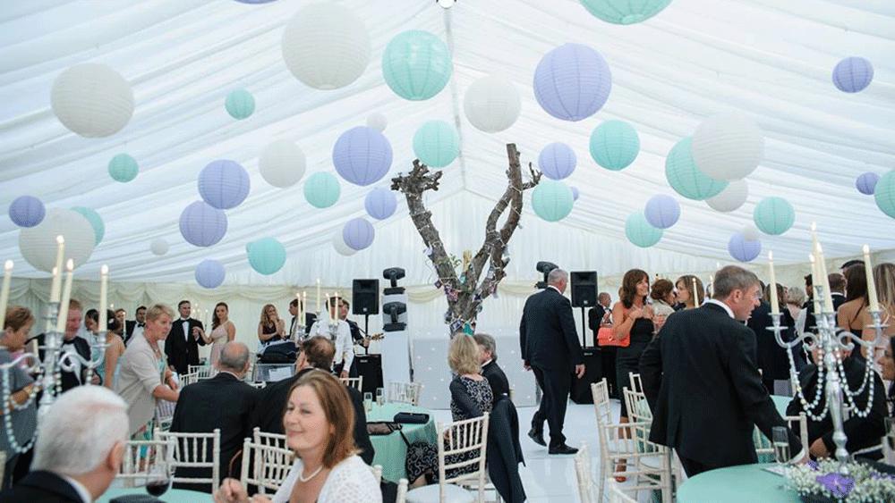 Pastel Wedding Lanterns