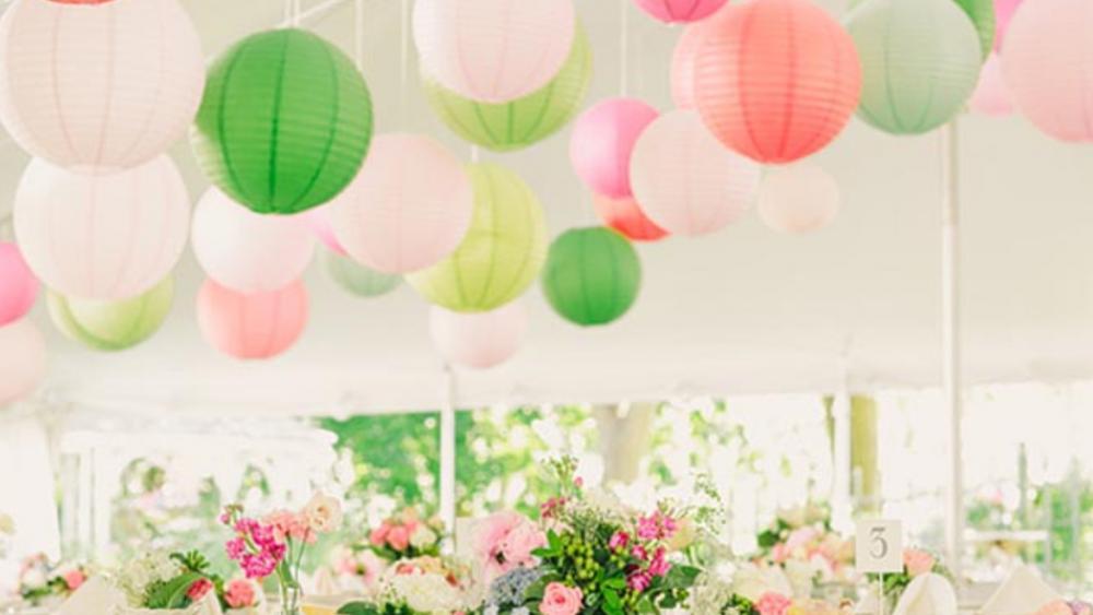 Feminine Coloured Boho Paper Lanterns