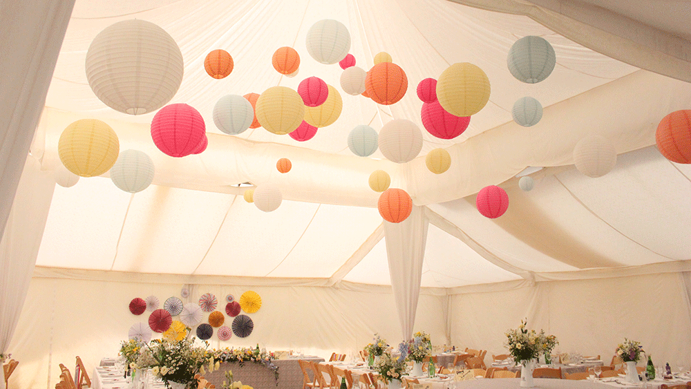 Pastel paper lantern and chinese lantern themes