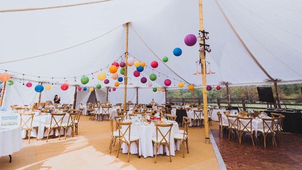 Coloured Paper Wedding Lanterns