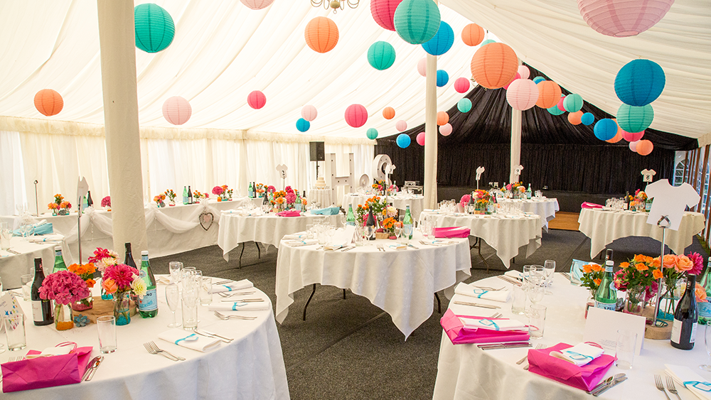 Traditional Marquee Lanterns at Baddow Park