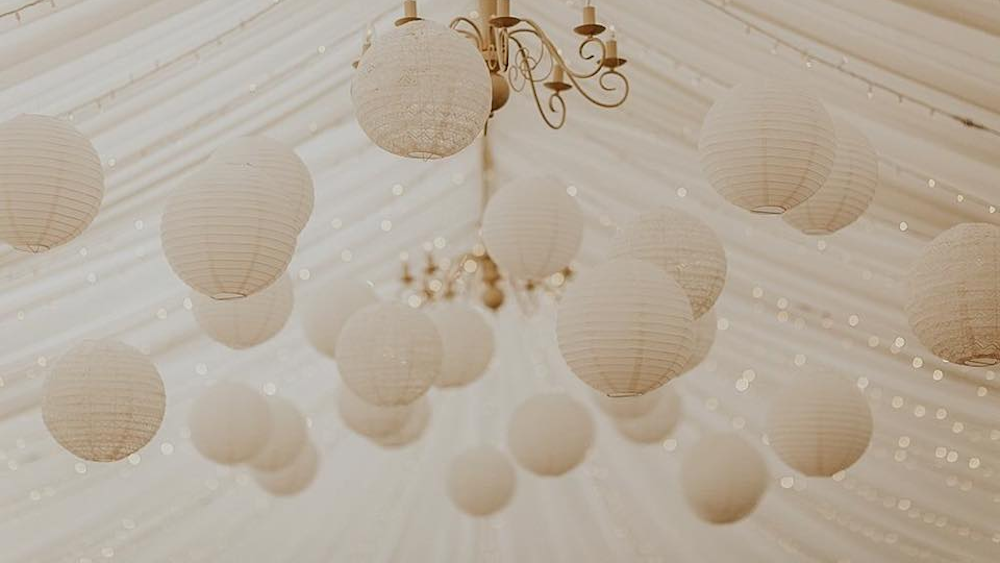 Lace lanterns at Ardington House