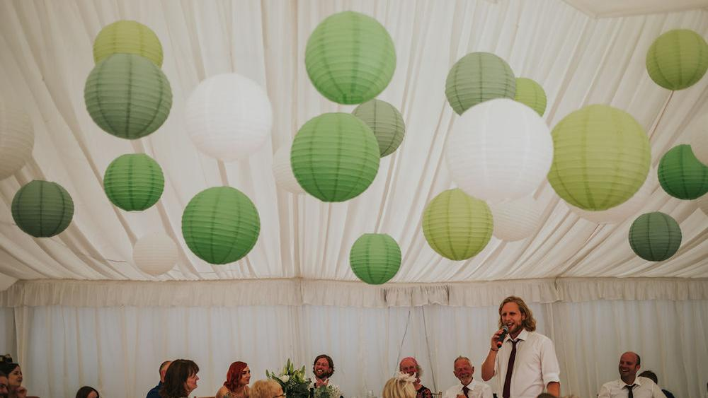 Nicolas and Hayley's Halifax Marquee Wedding Lanterns