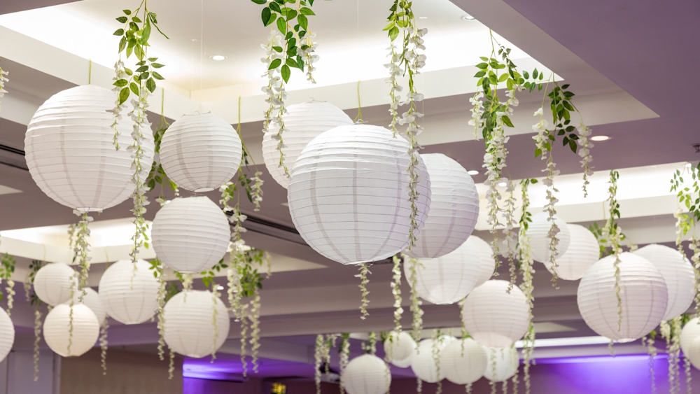 decorative paper lanterns for weddings white wedding lanterns and wisteria hanging lantern company 3459