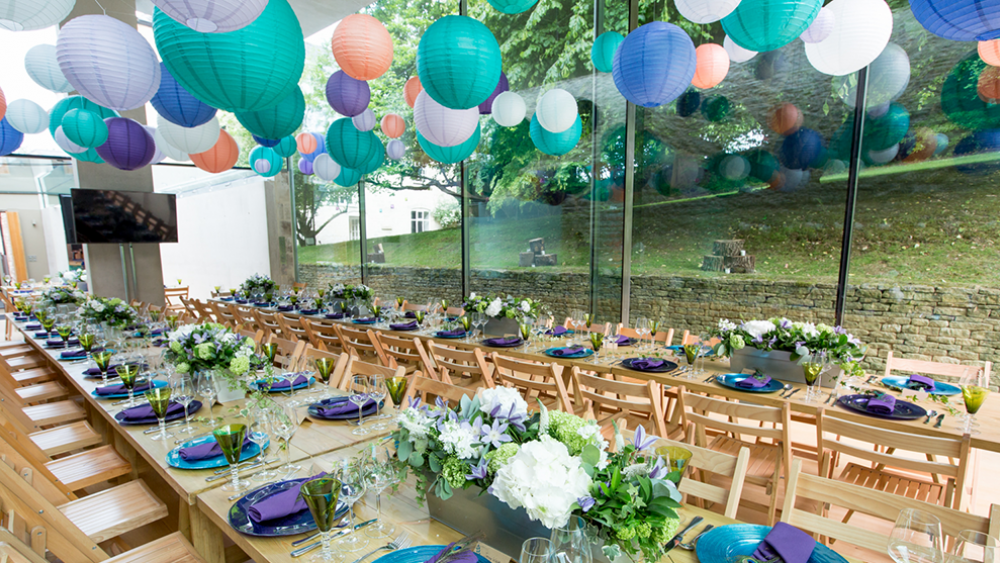 Modern Coloured Lanterns at Garden Style Soiree