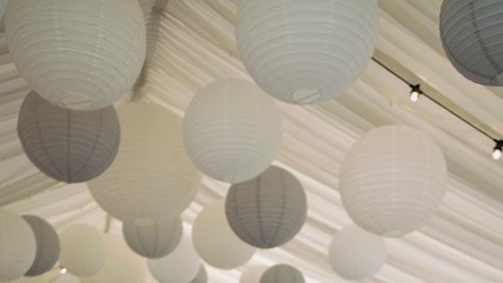 Dove Grey Marquee Lanterns