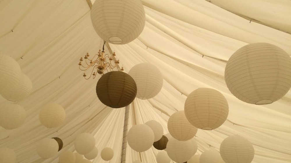 Cream and Gold Lanterns at Blickling Hall Gardens