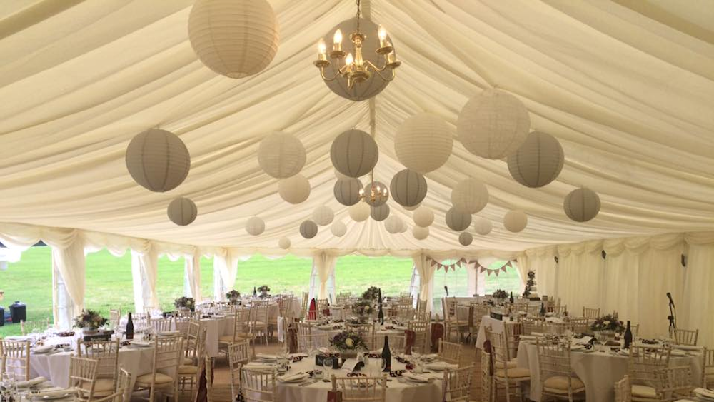 Dove Grey & Lace Lanterns at Heaven Farm, Sussex