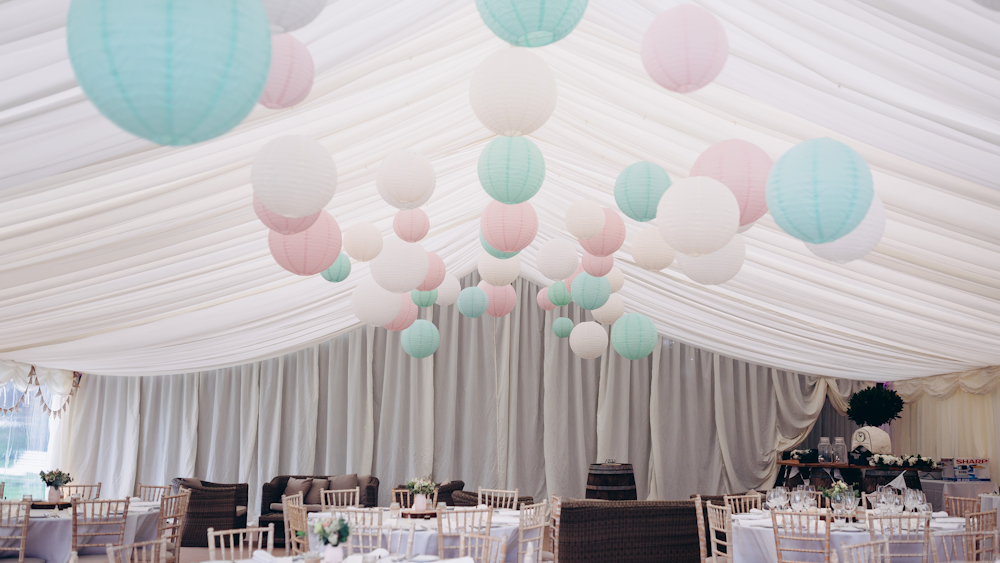 Houghton Lodge Gardens Wedding Lanterns